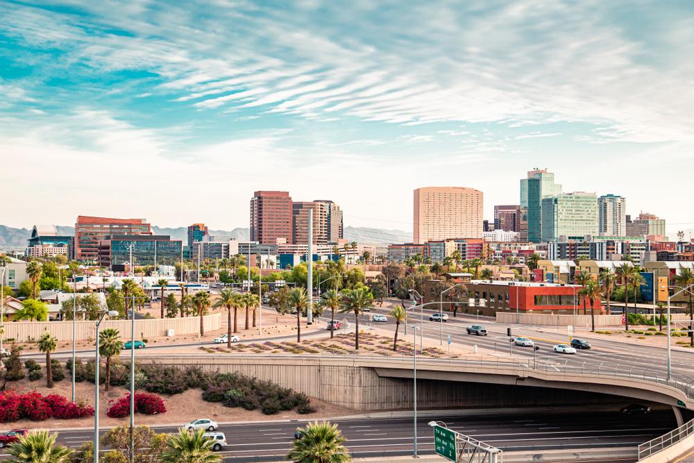 panoramic view of downtown phoenix arizona